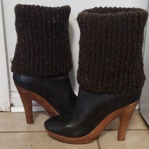 MICHAEL KORS Sweater Clog High Boots Size 8M
